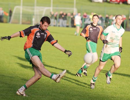 Action from the intermediate football championship match against Saint Naul's.
