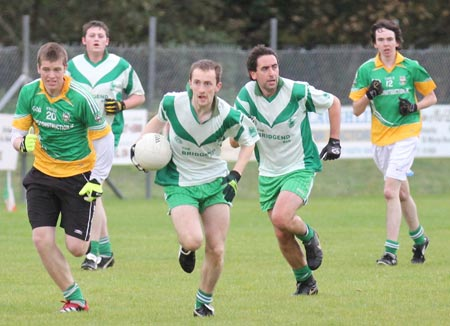Action from the division three reserve football league match against Buncrana.