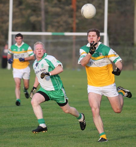 Action from the division three football league match against Buncrana.