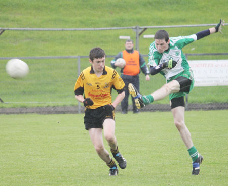 Action from the under 16 Ulster championship quarter final against Ramor United.