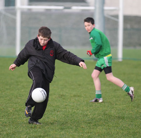 Action from the under 14 training.