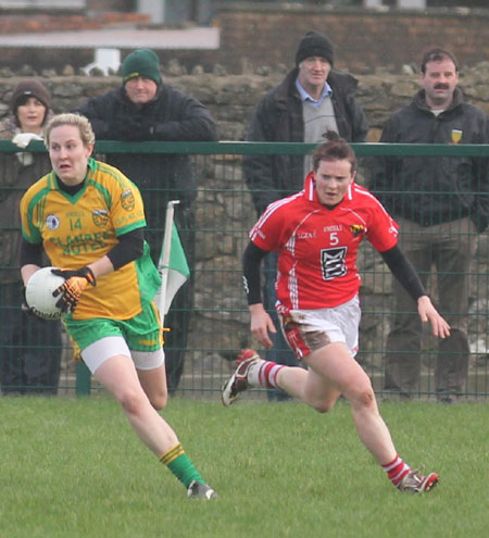 Action from the 2012 NFL division two clash between Donegal and Cork in Páirc Aoidh Ruaidh.