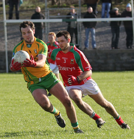Action from the division one National Football League match between Donegal and Mayo.