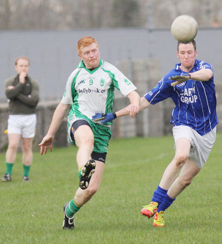 Action from the challenge match against Devenish.