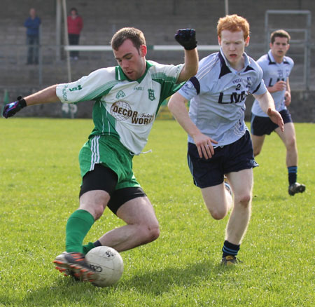 Action from the challenge match against Belcoo.