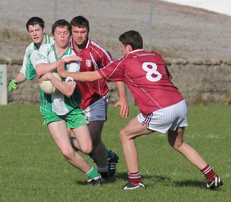 Action from the division three senior reserve football league match against Termon.