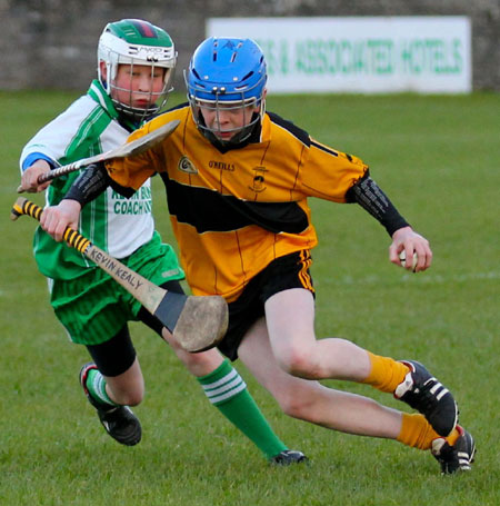 Action from the Aodh Ruadh v Saint Eunan's game.