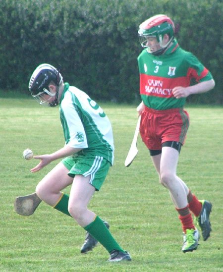 Action from the county under 14 Féile na nGael blitz in Carndonagh.