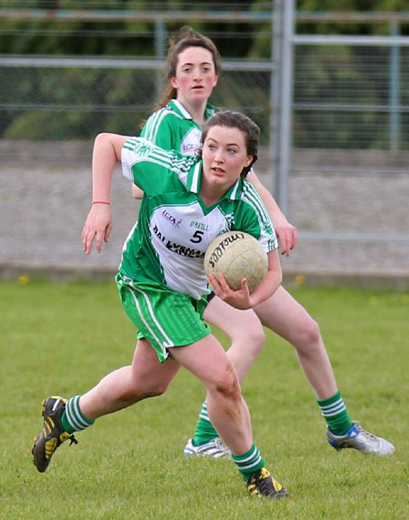 Action from the 2012 ladies senior match between Aodh Ruadh and Milford.