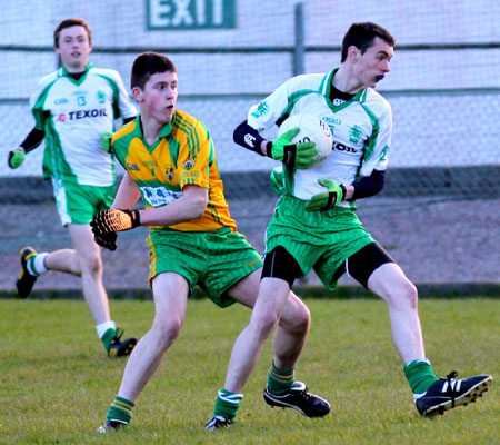 Action from the under 18 league game against Ardara.
