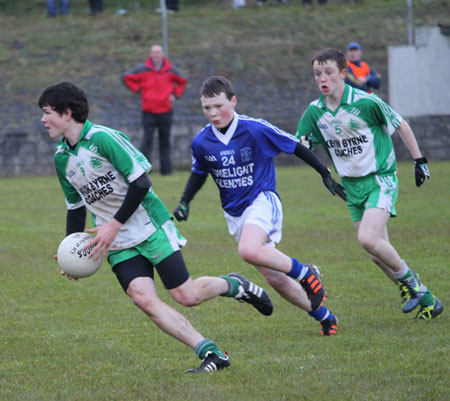 Action from the under 16 league game against Naomh Conaill.