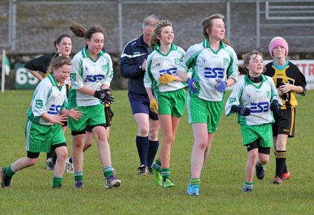 Action from the 2012 ladies under 14 match between Aodh Ruadh and Bundoran.