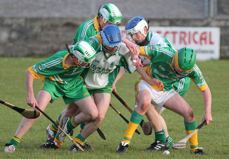 Action from the county under 18 game against Buncrana.
