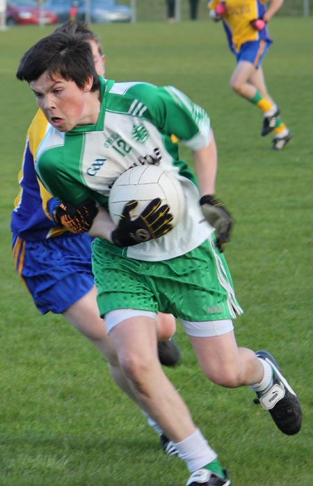 Action from the under 16 county league semi-final between Aodh Ruadh and Burt.