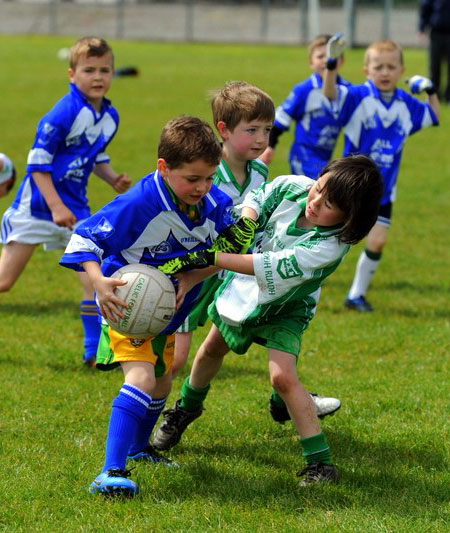Action from the under 8 county blitz in Father Tierney Park.