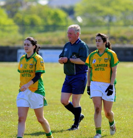 Action from the 2012 ladies inter-county match between Donegal and Sligo.