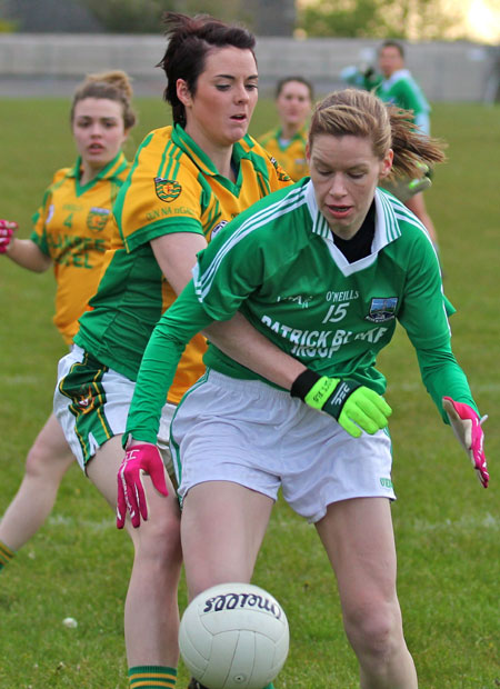 Action from the 2012 ladies inter-county match between Donegal and Fermanagh.