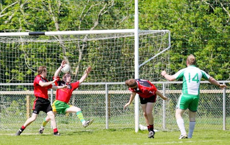 Action from the division three senior reserve football league match against Red Hugh's.