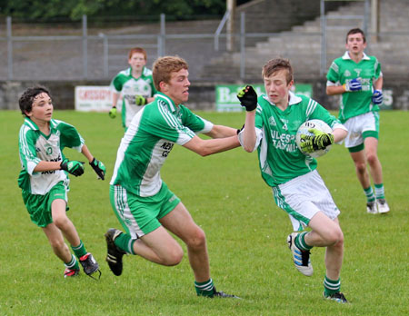 Action from the under 16 championship game against Naomh Mhuire.