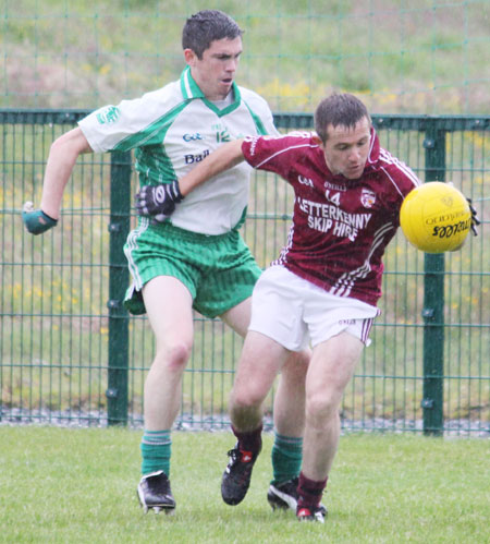 Action from the division three senior football league match against Termon.