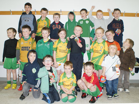 The Aodh Ruadh under 8 team which competed at the Mountcharles blitz.