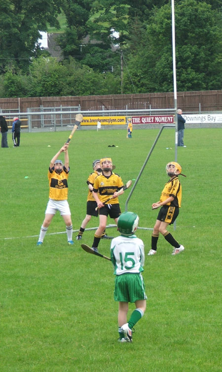 Action from the under 10 blitz in Letterkenny.