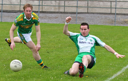 Action from the division three senior football league match against Downings.