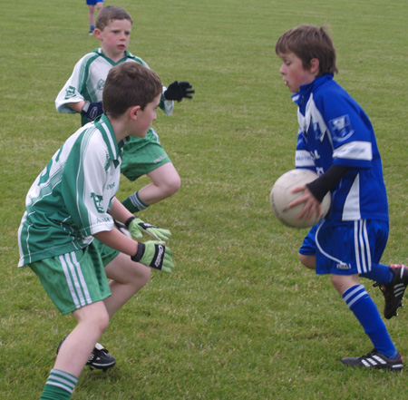 Action from the under 10 blitz at Saint Naul's.
