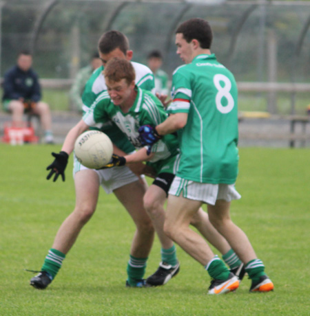 Action from the county championship semi-final between Aodh Ruadh and Gaoth Dobhair.