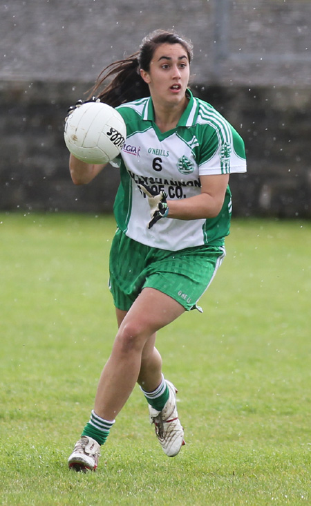 Action from the ladies senior match between Aodh Ruadh and Termon.