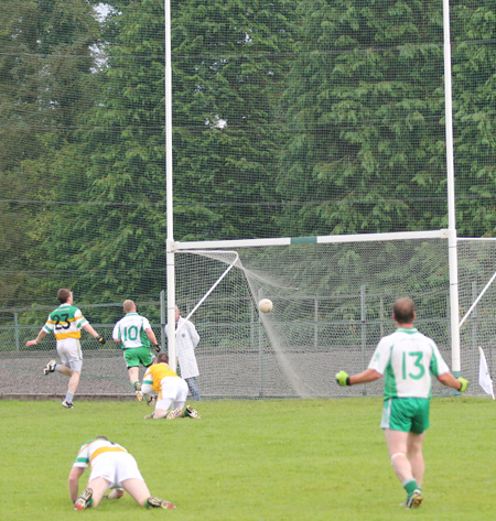 Action from the division three senior football league match against Buncrana.