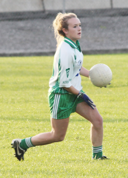 Action from the ladies under 16 match between Aodh Ruadh and Four Masters.