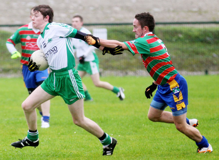 Action from the division three senior reserve football league match against Burt.
