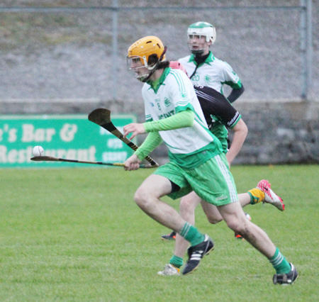 Action from the under 16 hurling game between Aodh Ruadh and Setanta.
