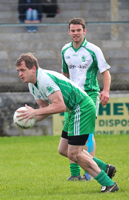 Action from the intermediate football championship match against Naomh Bríd.