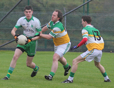 Action from the intermediate reserve football championship final against Buncrana.
