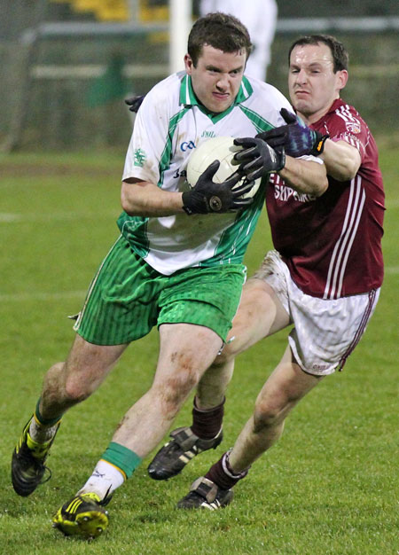 Action from the intermediate football championship final against Termon.