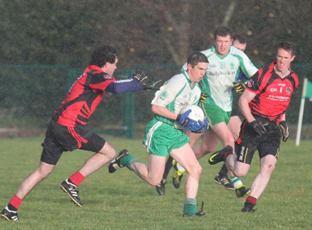 Action from the senior division 3 match against Red Hugh's.