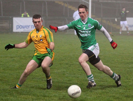 Action from the national football league match against Armagh.