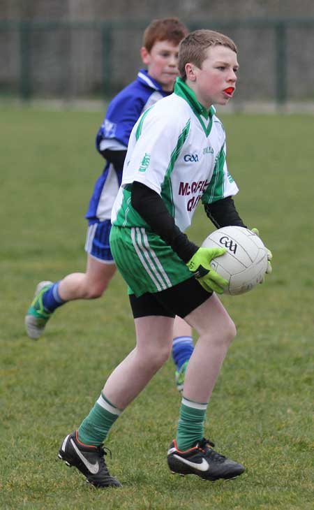 Action from the under 14 league game between Aodh Ruadh and Four Masters.