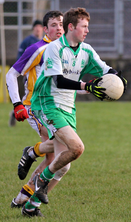 Action from the challenge match between Aodh Ruadh and Derrygonnelly Harps.