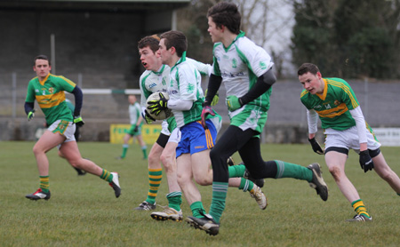 Action from the challenge match between Aodh Ruadh and Urney.