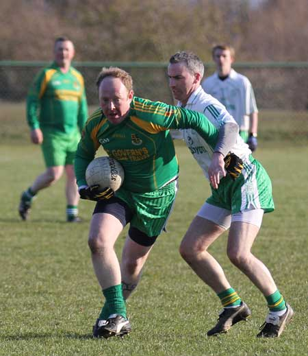 Action from the reserve division 3 senior game against Saint Naul's.