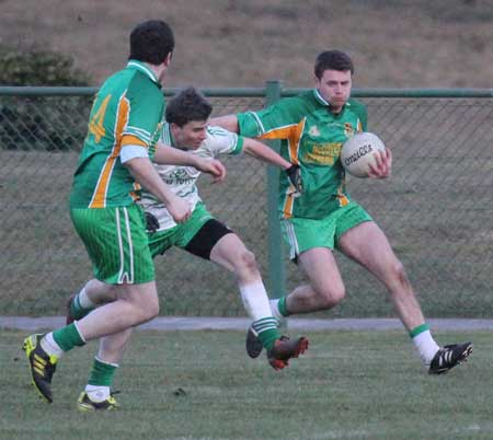 Action from the division 3 senior game against Saint Naul's.