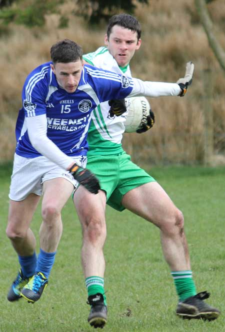 Action from the division three senior football league match against Fanad Gaels.