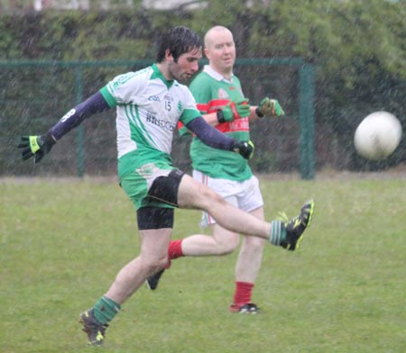 Action from the reserve division 3 senior game against Carndonagh.