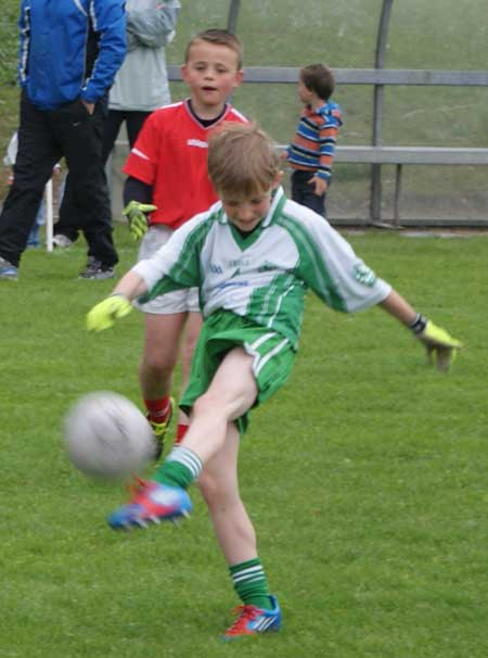 Action from the under 8 blitz in Donegal Town.