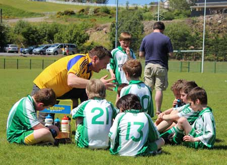 Action from the under 10 blitz in Mountcharles.