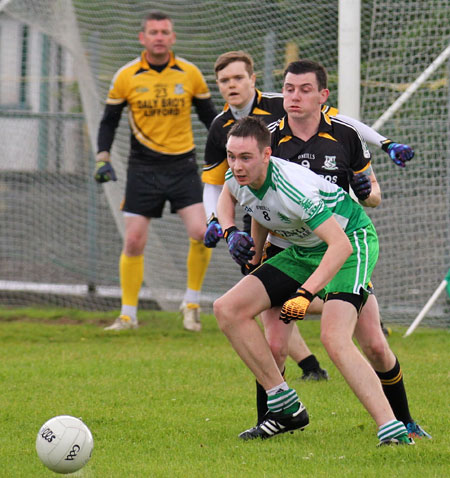 Action from the division 3 senior reserve game against Naomh Padraig, Lifford.