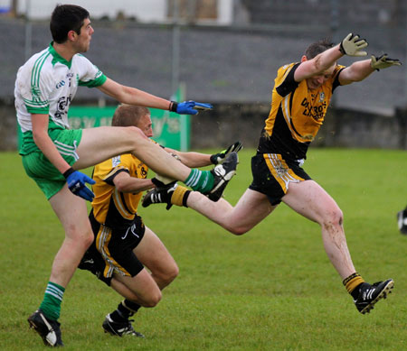 Action from the division 3 senior game against Naomh Padraig, Lifford.